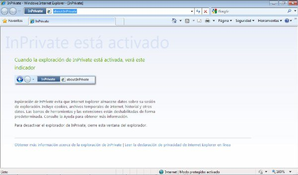 Internet Explorer - InPrivate mode