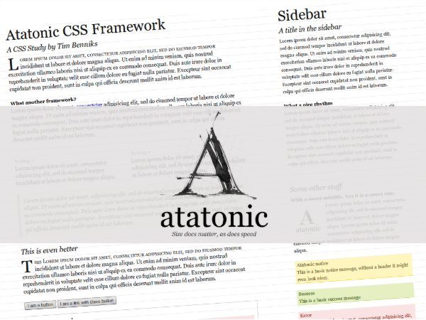 Atatonic - A Free CSS Framework Focused On Typography