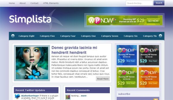 Simplista-free-WordPress-theme
