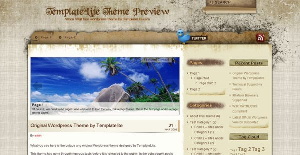 Worn-Wall-free-WordPress-theme