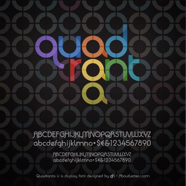 Quadranta free modern font for Photoshop