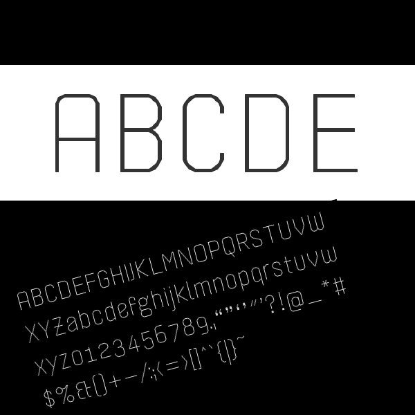 db Sticker free modern font for Photoshop