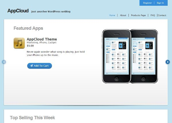 AppCloud free WordPress theme