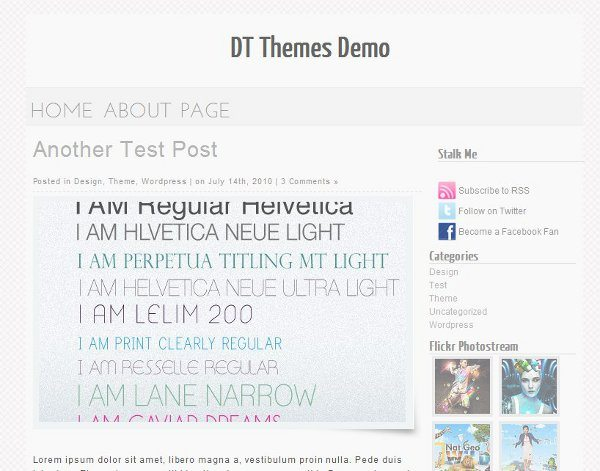 Modern and Minimalistic free WordPress theme