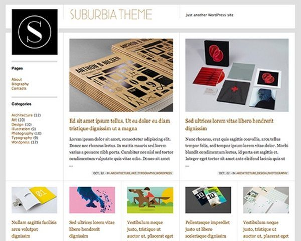 Suburbia free WordPress theme