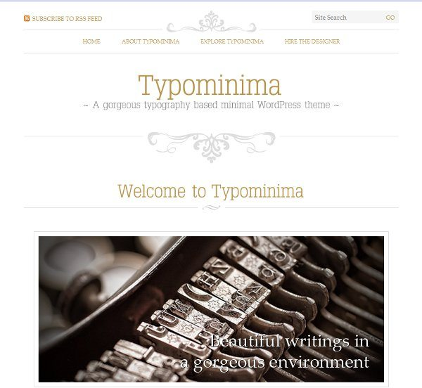 Typominia free WordPress theme
