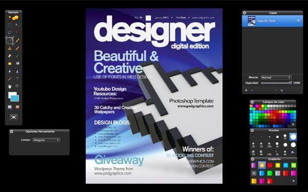 Blue Magazine Cover - para descargar gratis en formato PSD de Photoshop