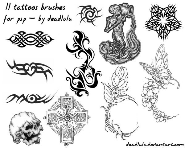 11 Tattoo brushes for Photoshop