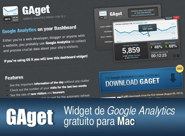 GAget - Widget de Google Analytics gratuito para Mac