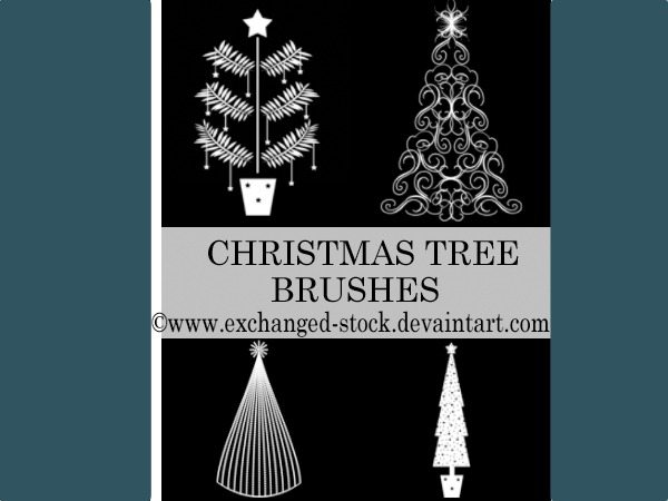 Christmas Trees - Brushes Photoshop