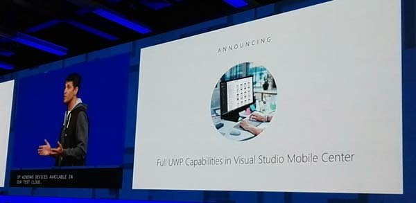 Visual Studio Movile Center - Windows Fall Creators Update