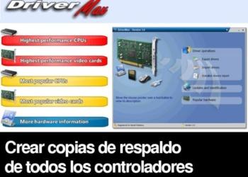 DriverMax - crear copias de respaldo de todos los controladores