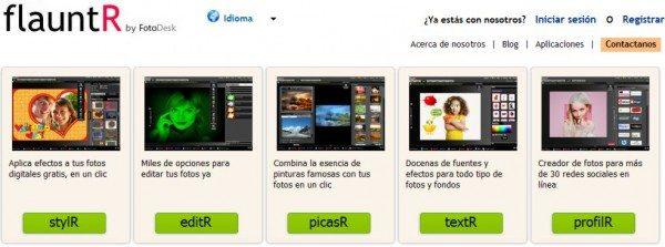 Flauntr Editor de fotos - Editor de imagenes online gratis