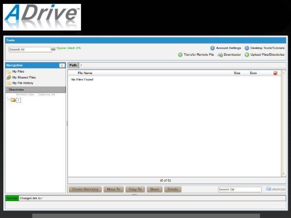 ADRIVE - Servicio de alojamiento de archivos web