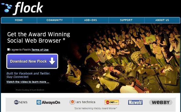 Flock - navegador web con funciones sociales integradas