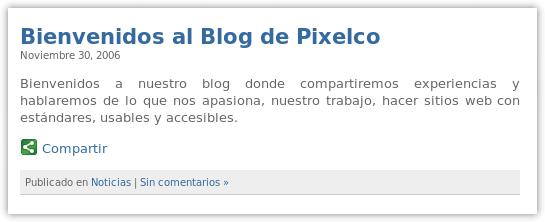Bienvenidos a Pixelco blog - 30 de nov de 2006