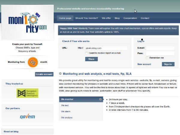 Monitority.com - Servicio online de monitorizacion de servidores web
