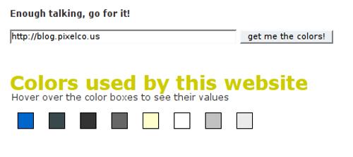 Resultado de capturar los colores de pixelco.us blog con mooColorFinder