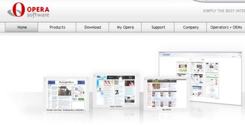 Captura de pantalla Opera