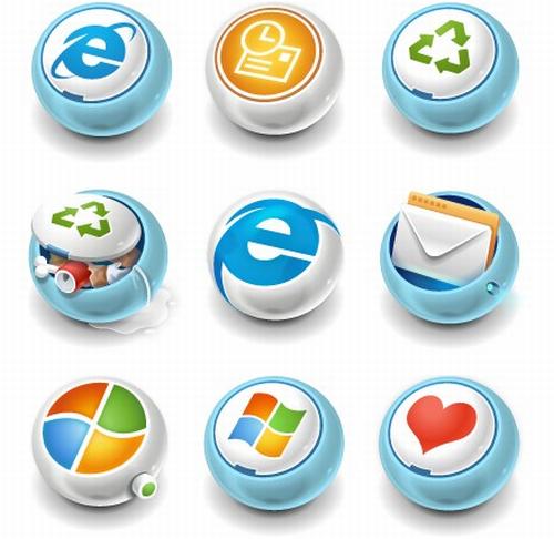 iconos de muestra