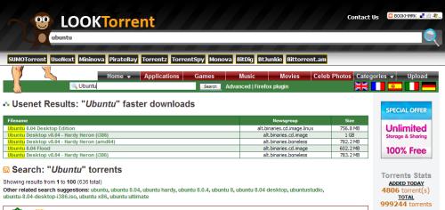 LookTorrent - metabuscador de archivos torrents