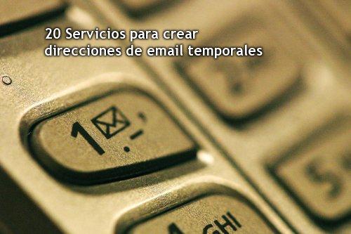 20 Servicios para crear direcciones de email temporales (imagen decorativa)
