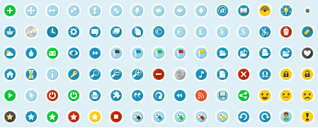 Circular Icons - Coleccion de iconos circulares gratis