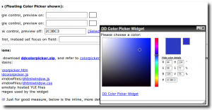 Color Picker Widget, captura de pantalla