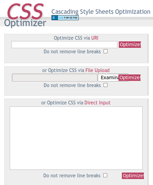CSS Optimizer - Captura de Pantalla