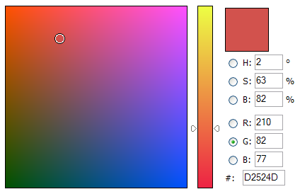 Javascript Color Picker biblioteca (librería) para implementar selector avanzado de colores como el Photoshop