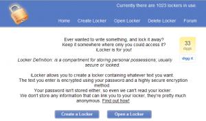 iLocker sistema de almacenamiento online gratis para comparitr textos con seguridad