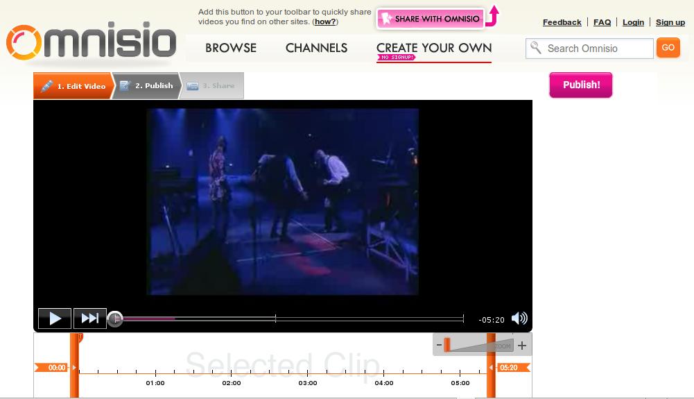 omnisio - plataforma para crear y compartir videos alojados en diferentes sitios