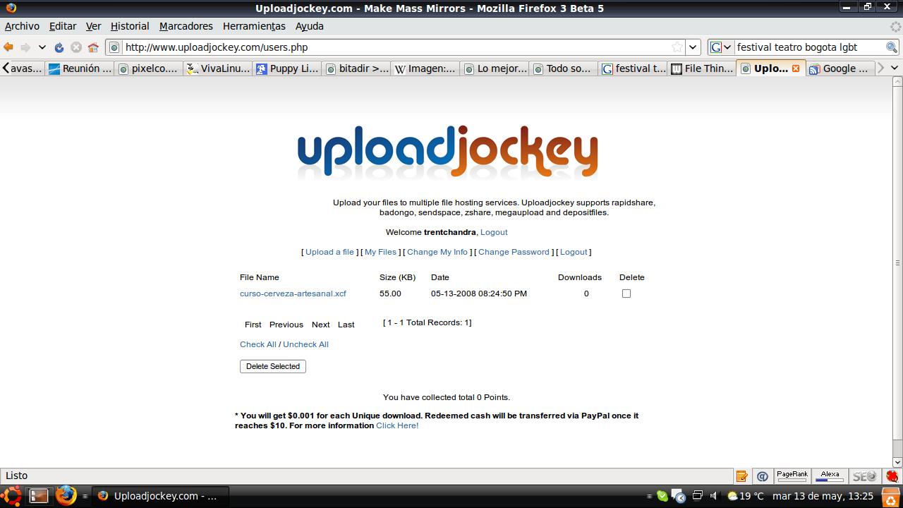 UploaddJockey servicio de laojamiento de archivos en varios servicores simultáneamente