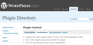 Wordpress Plugin Central - administrar fácilmente los plugins isntalados en tu Worpdress