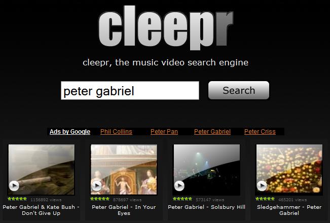 cleepr - Buscador de videos | Captura de pantalla