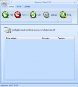 Flexcrypt - Interfase|Captura de pantalla