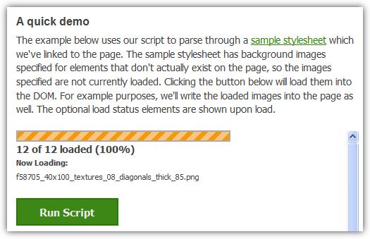 jquery-script-to-automatically-preload-iimages-from-css - Captura de pantalla   demo