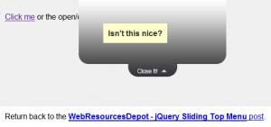 Sliding Top Menu - demo|captura de pantalla