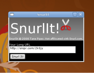 Snurlit - Interfase|Captura de pantalla