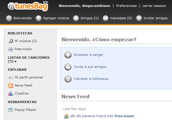 tunesBag - Captura de pantalla