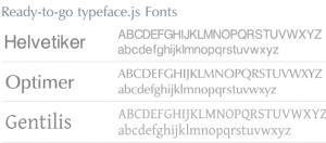 typeface.js – Biblioteca para usar las fuentes que tu quieras