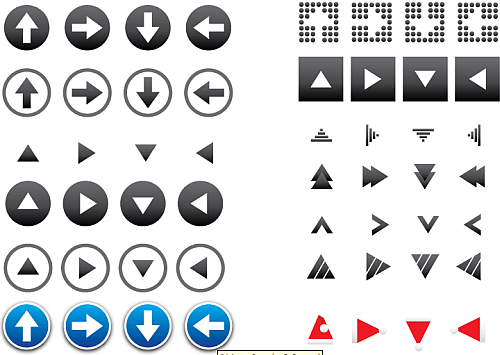 64 Vector Arrow Icons - Muestra