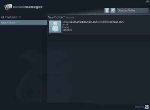 ContactManager - Interfaz | Aplicación demo que implementa una libreta de contactos