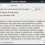 Dummy Lipsum - Extensión Firefox