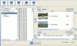 foto2avi-interfaz 5 Programas gratis para convertir fotos a videos