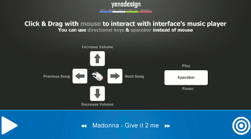 jQuery Music Player - Interfaz