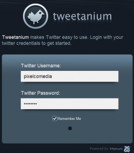 Twittanium - Interfaz | Aplicación demo que permite usar Twitter