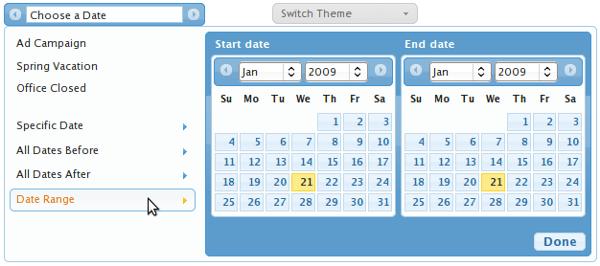 Date Range Picker - Muestra