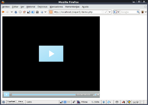 Open Source Player FLV - Interfaz