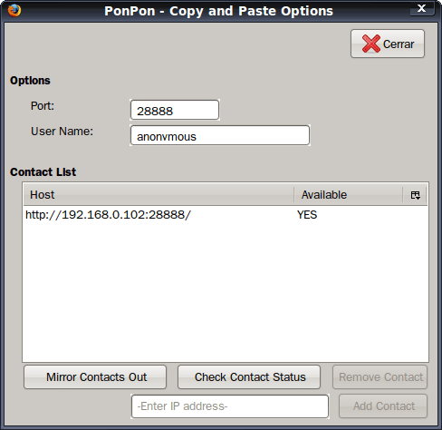 PonPon Copy and Paste - Configuración